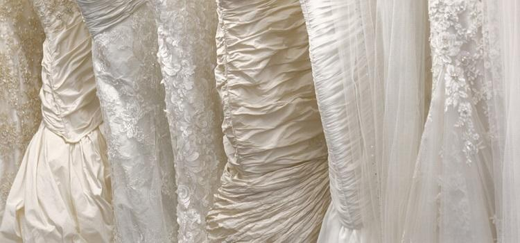 wedding dress colour and fabrics